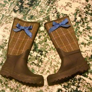 J. Crew rain boots, women's 7